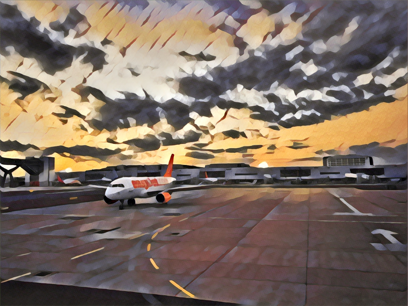 On the tarmac at Gatwick
