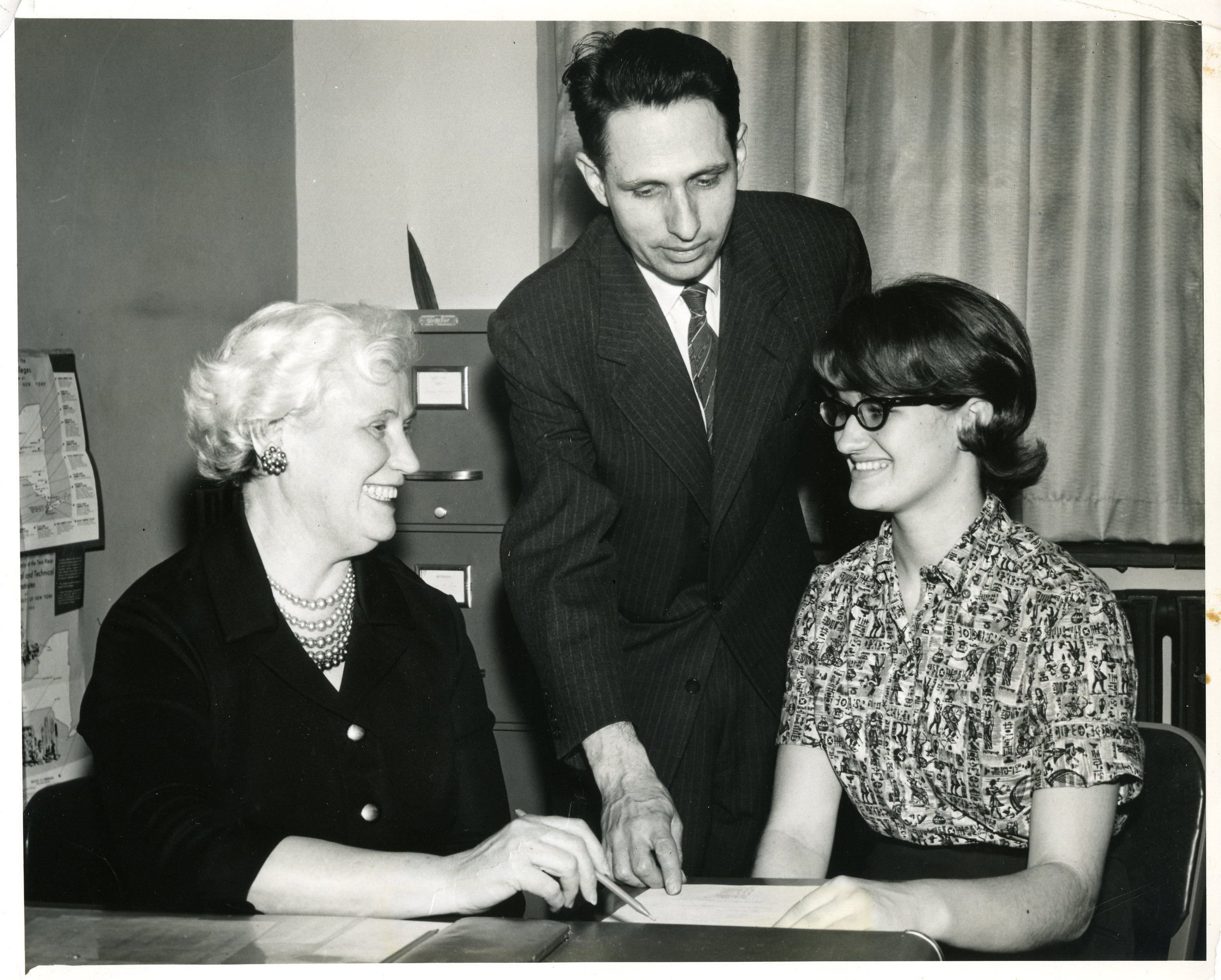 Me receiving the secretarial scholarship, Rome Free Academy, Rome, New York, 1964