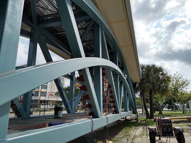 Bend it like Beckham! Check out the steel on the new overhead pedestrian overpass in Biloxi!  #biloxi