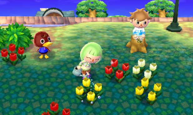 Just a regular day in Animal Crossing, boys, girls, and gender ambiguous ducks working together.