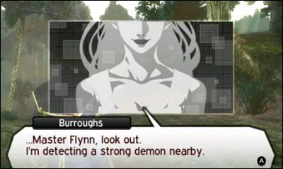 Burroughs, the AI that inhabits your demon summong gauntlet, never fails to warn you about upcoming boss fights.