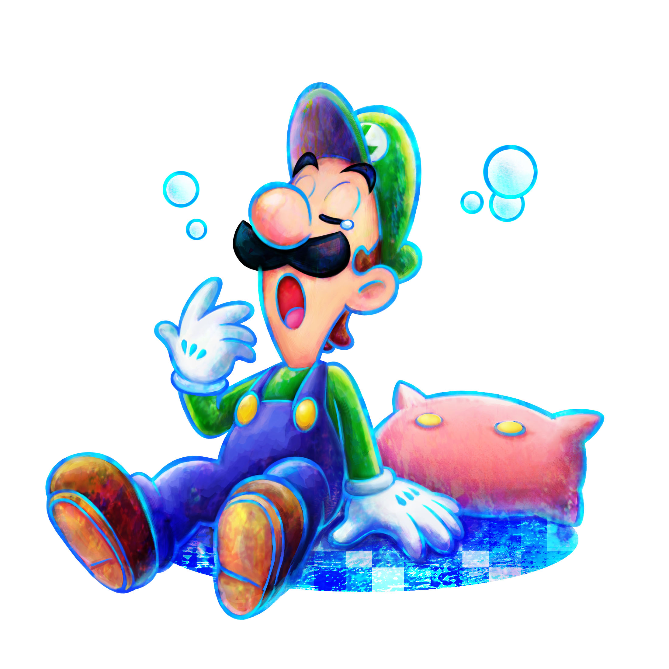 Maybe the constant exposition is why Luigi's able to fall asleep so easily?