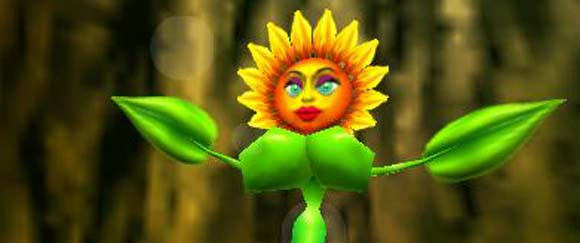 Yes. That's a Sunflower with DD breasts. No, I can't explain it. Please don't think about it too much.