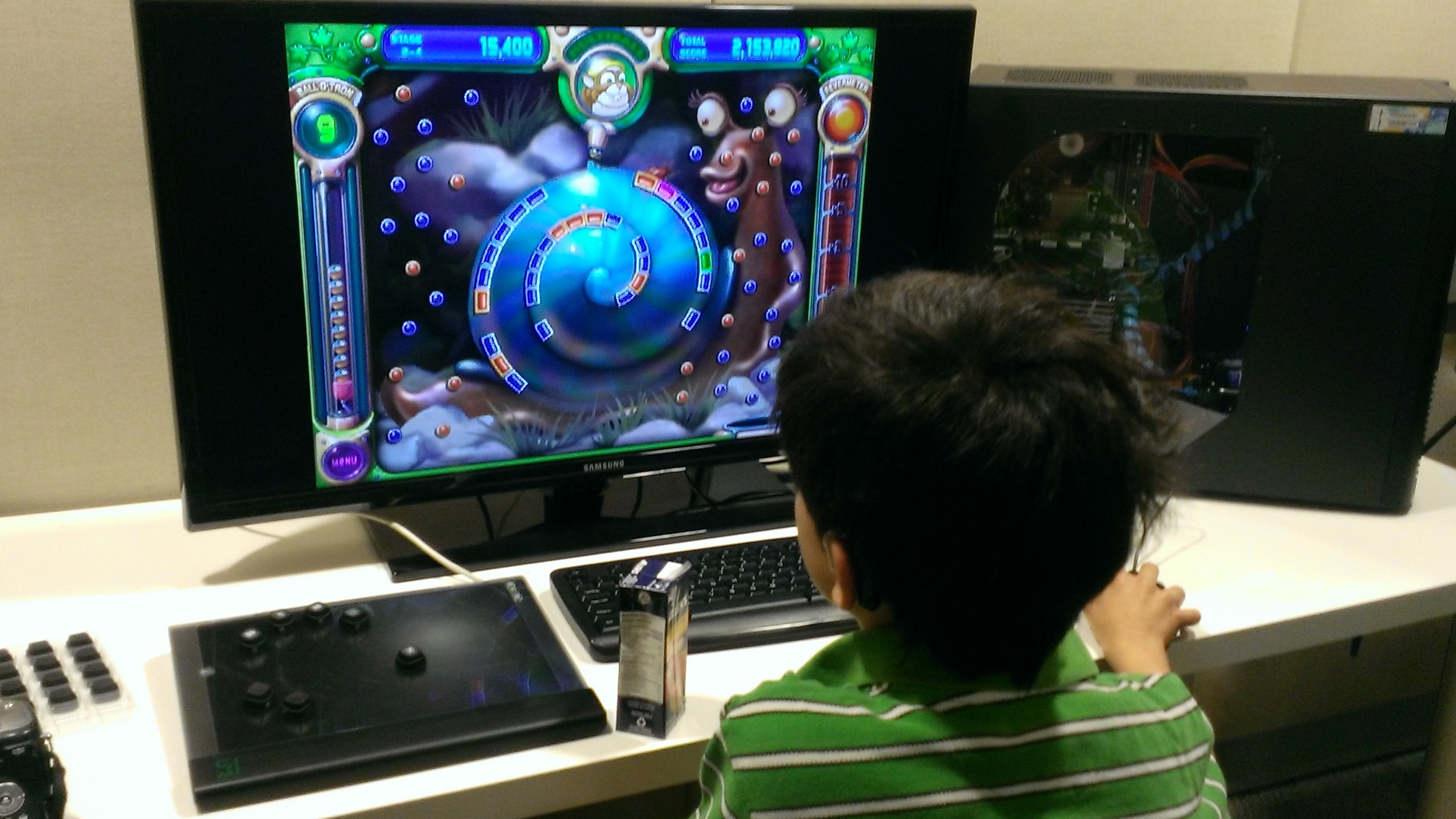 Child Plays Peggle With Custom Control Pad