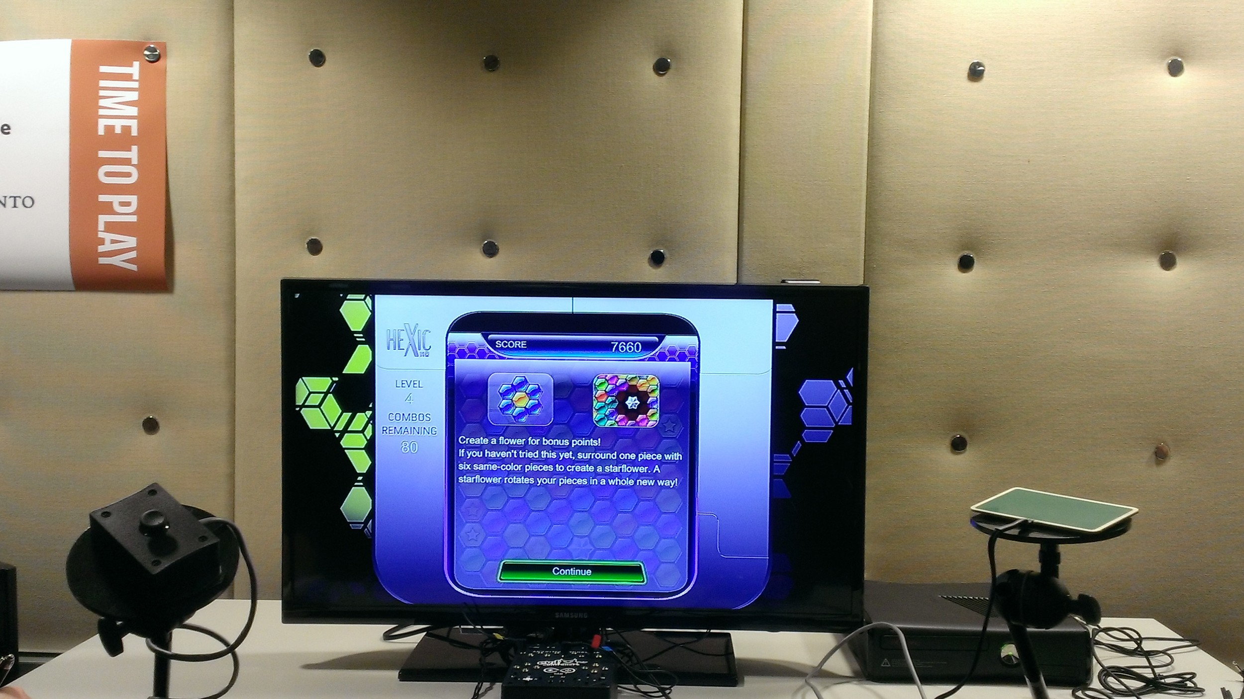One of two available control pads for disabled individuals at the accessibility arcade in U of T.