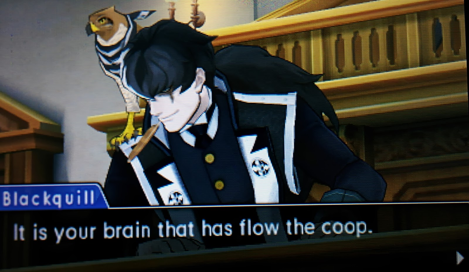 Ace Attorney: Dual Destinies is either the most amazing series of typos ever, or an incredibly detailed post-modern comedy bit.