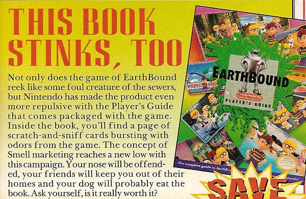Nintendo of America probably didn't think this one through. Throw 'em a bone. It was the 90s.