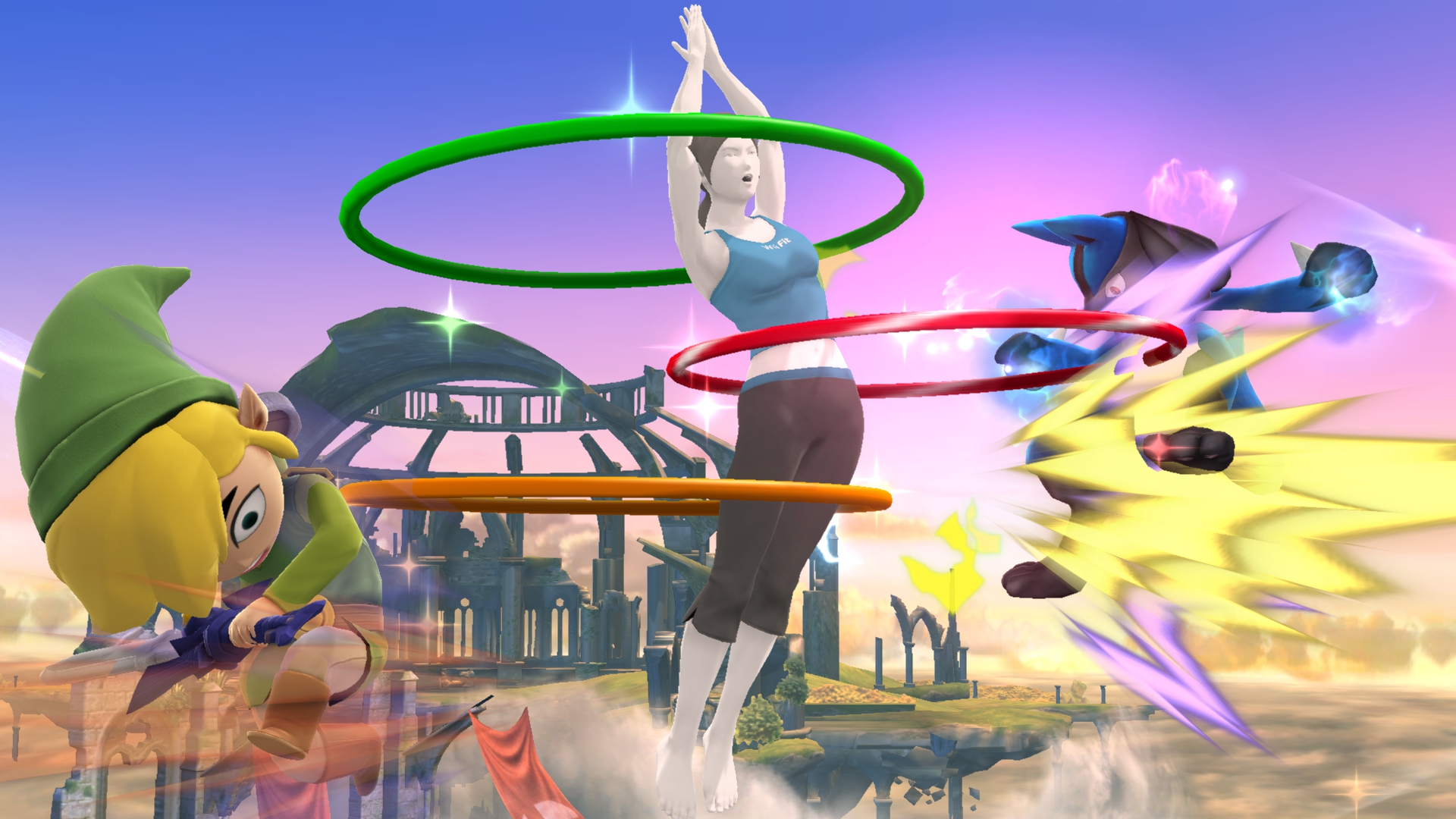 Not the 3DS version, but do appreciate the RESOLUTION on those hula hoops. You won't find hula hoops like that on any other console. Those are proprietary hoops. First party hoops.