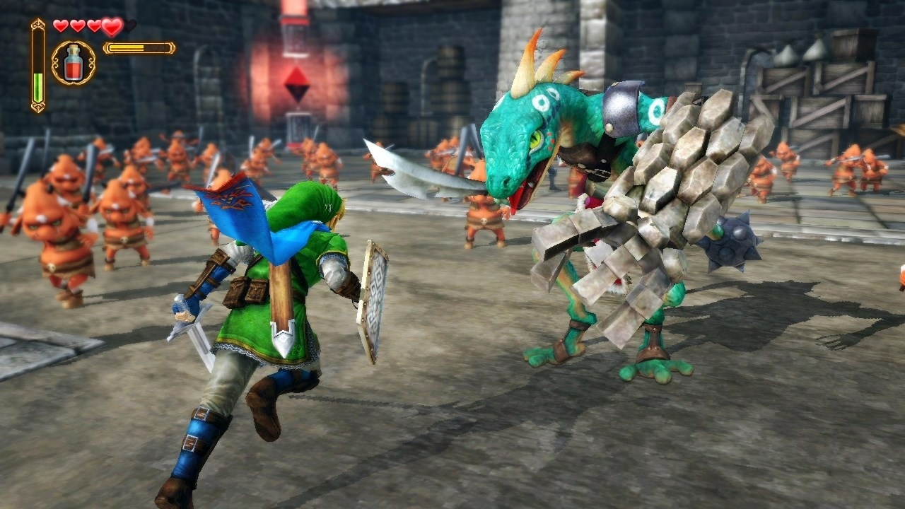 Some days, we just need to sit back and appreciate how great the Skyward Sword Lizalfos design is. It has a giant rock gauntlet Let that sink in.