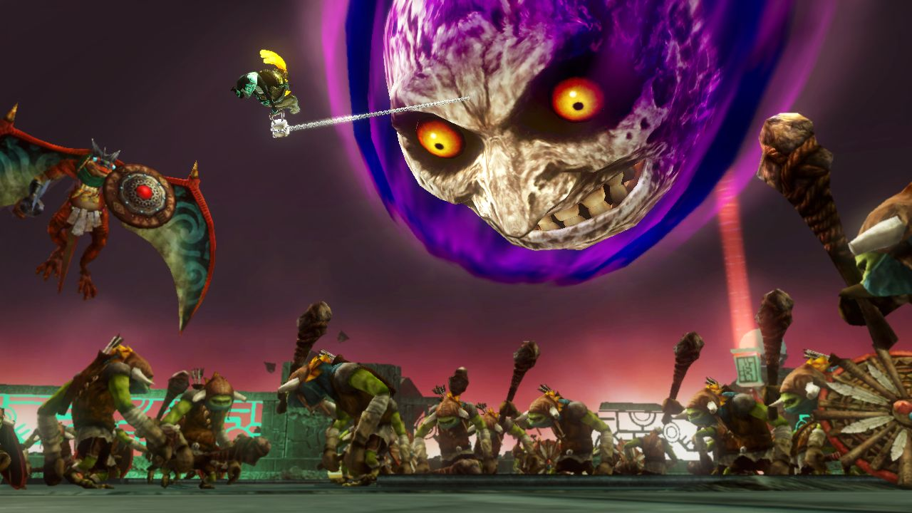 Twilight Princess's Midna brings down Majora's Mask's moon as part of one of her supers, and that sentence is definitely a dream come true for someone. (That someone is me.)
