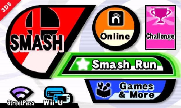 Smash Bros. 3DS Menu