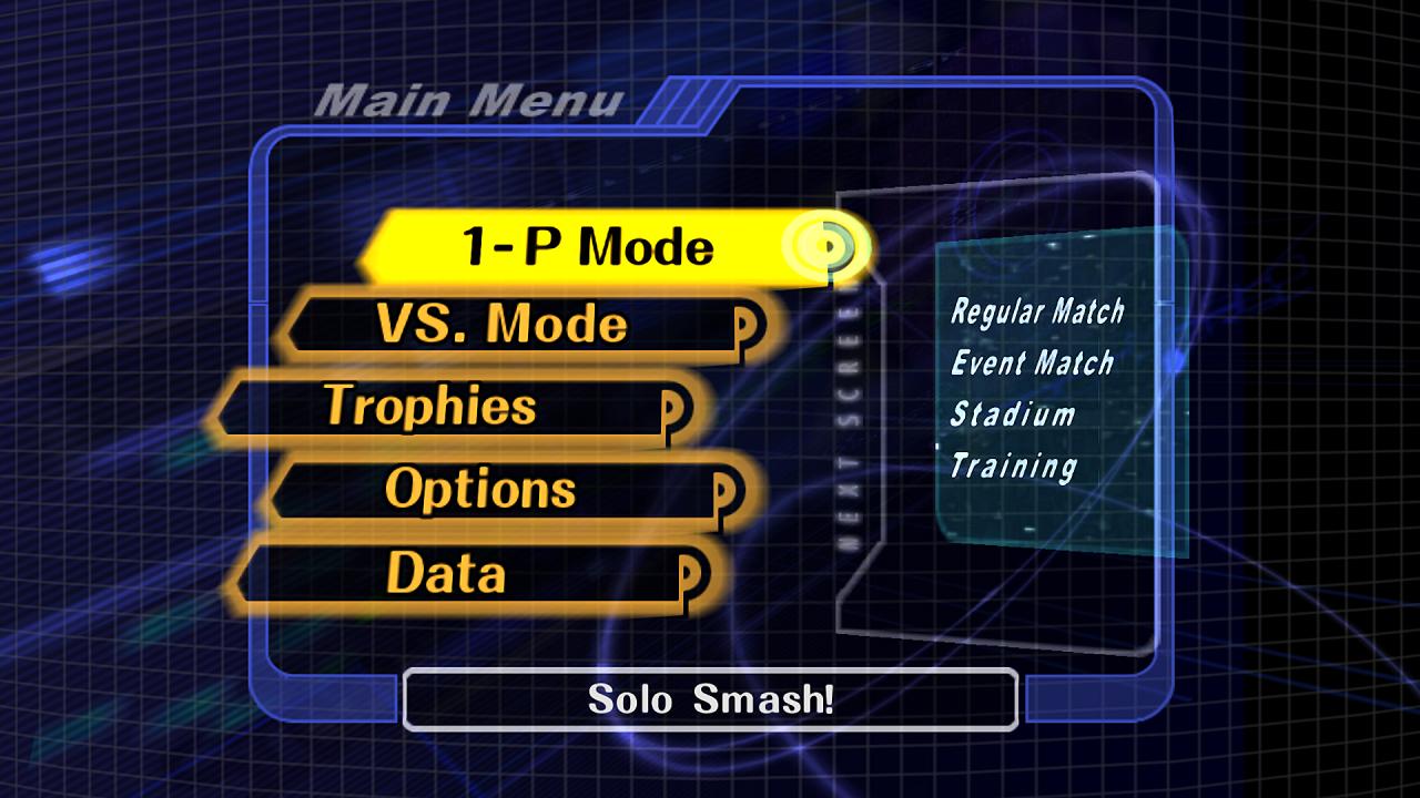 Smash Bros. Melee Menu