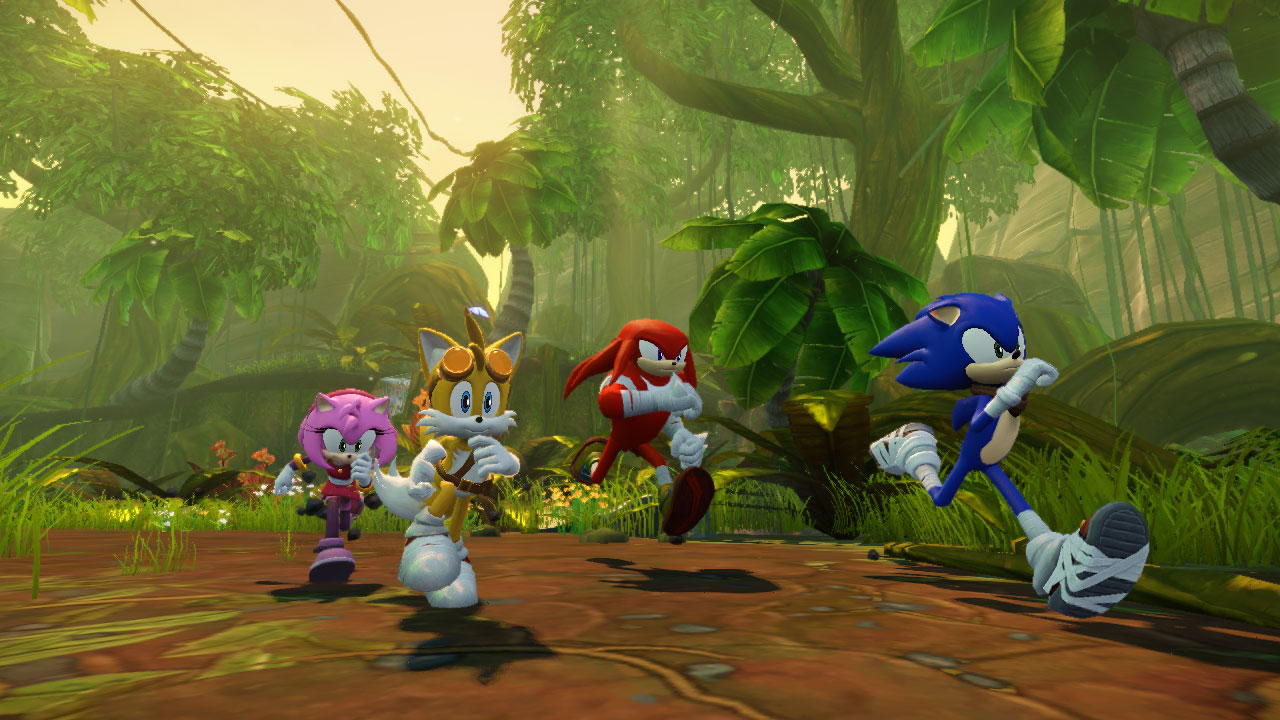 ...And this is the reality. Middy textures, jagged edges on the character models, and whatever's supposed to be happening to Sonic's...hair? Quills?