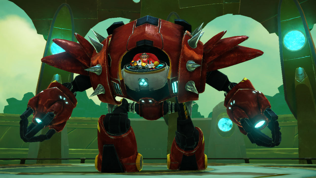 At least Eggman still looks great, I guess. Too bad his robot was borrowed from 2004.