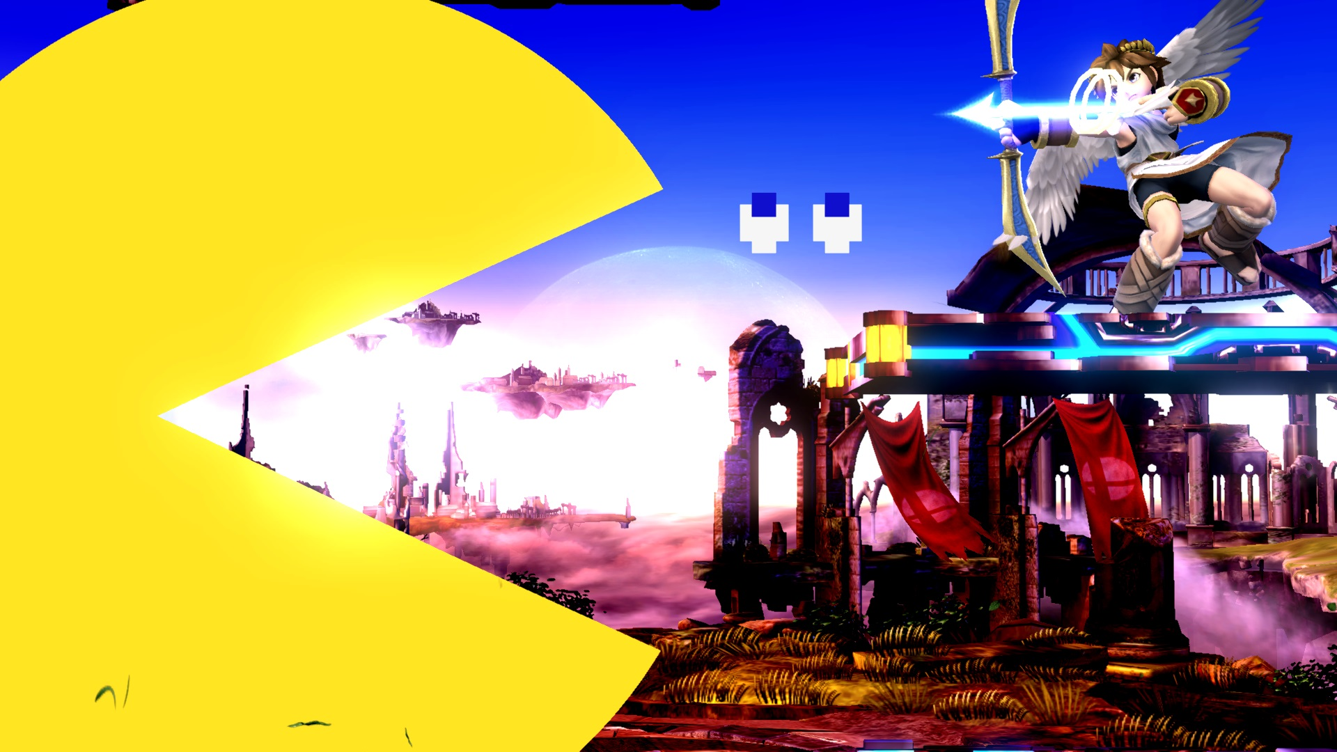 Pac-Man's final smash has him turn into a beautiful HD circle of gluttony.