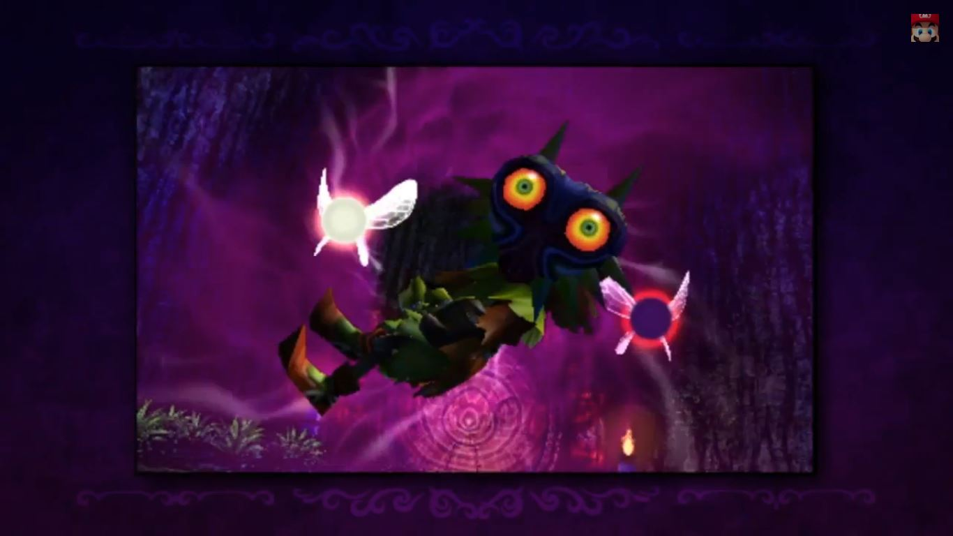 Majora's Mask 3D has a fixation on those terrifying, soul-piercing yellow eyes. It's pretty terrifying.