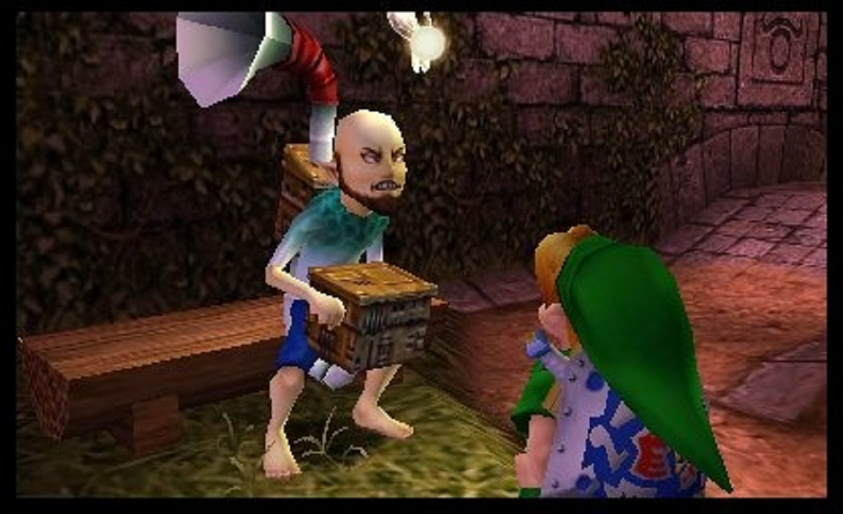This guy's back story is that he stole a mask from his boss once, but his boss was a dog. Majora's Mask is GREAT.