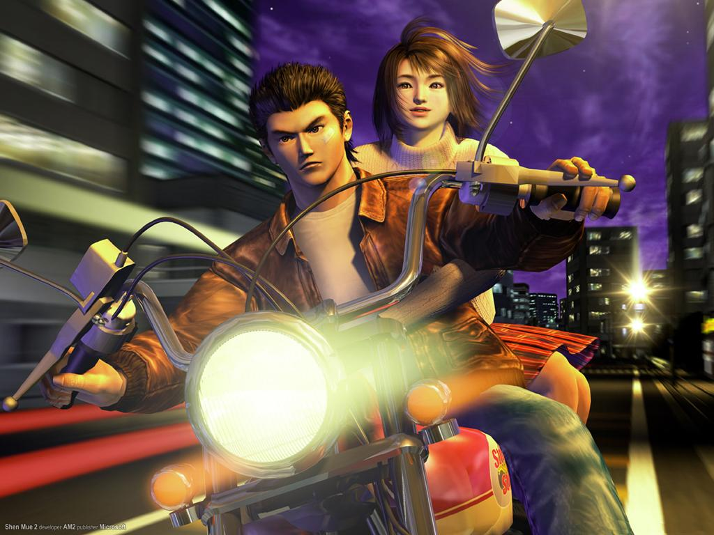 Technically this is Shenmue 2, and that motorcycle is a spoiler. Sue us.