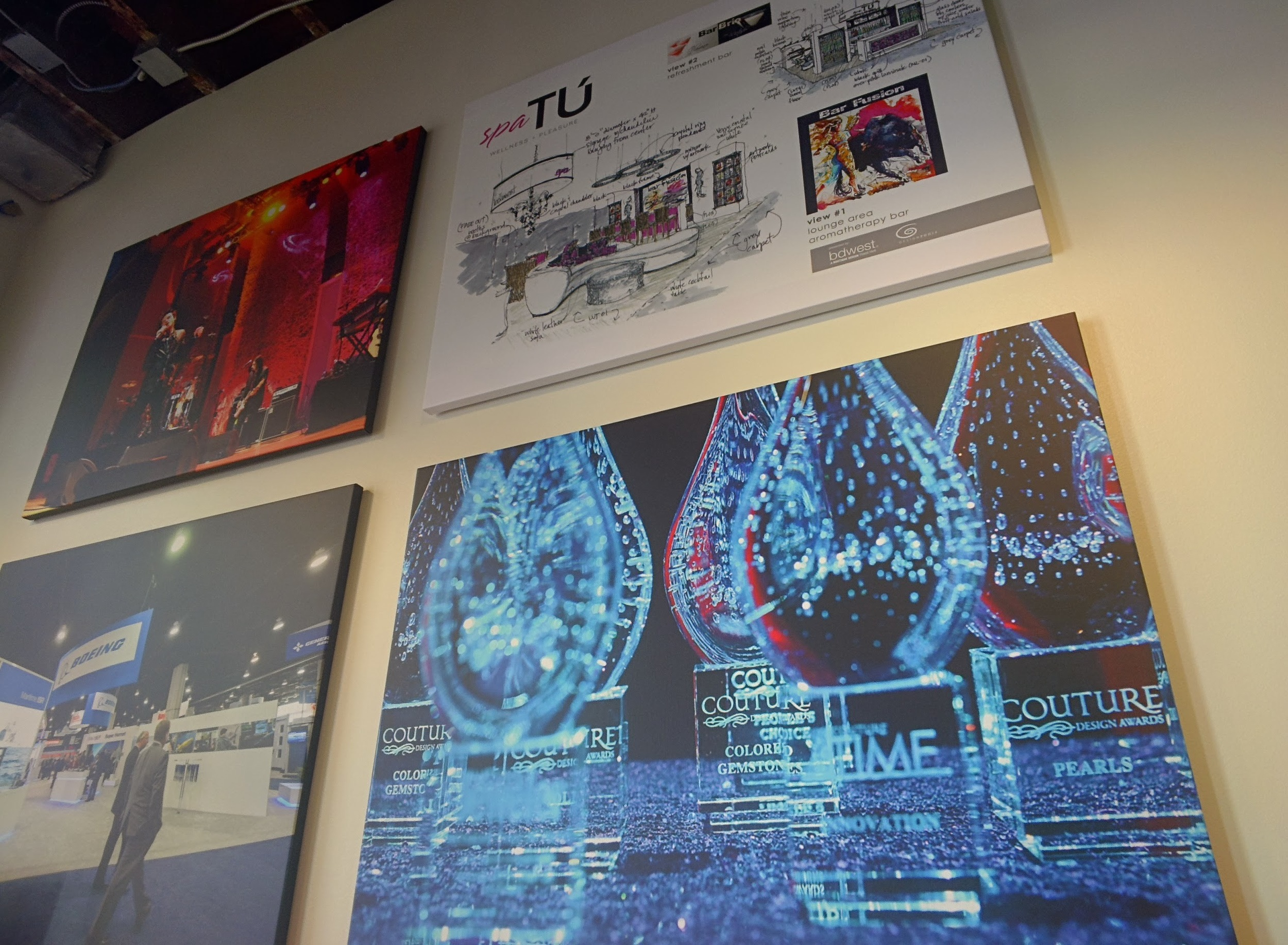 TBG client event art on the wall of our office.