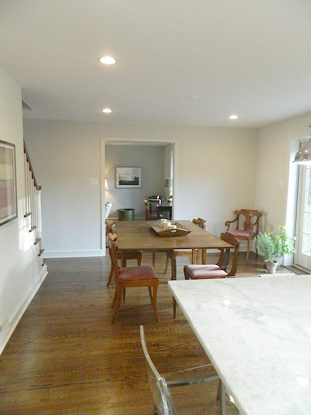 dining room after a