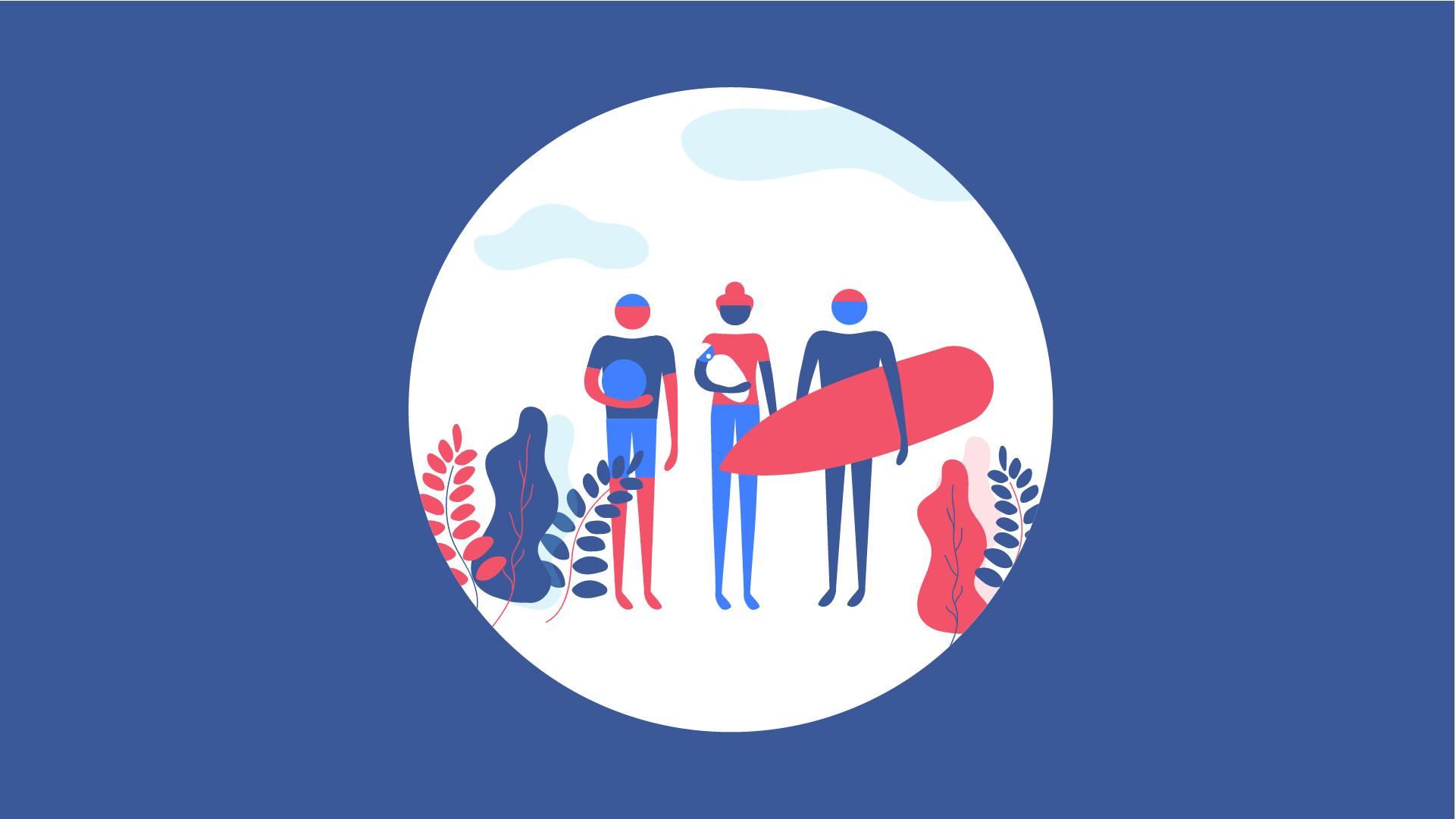 Facebook - Closer Together - Social Content | Illustration & Animation