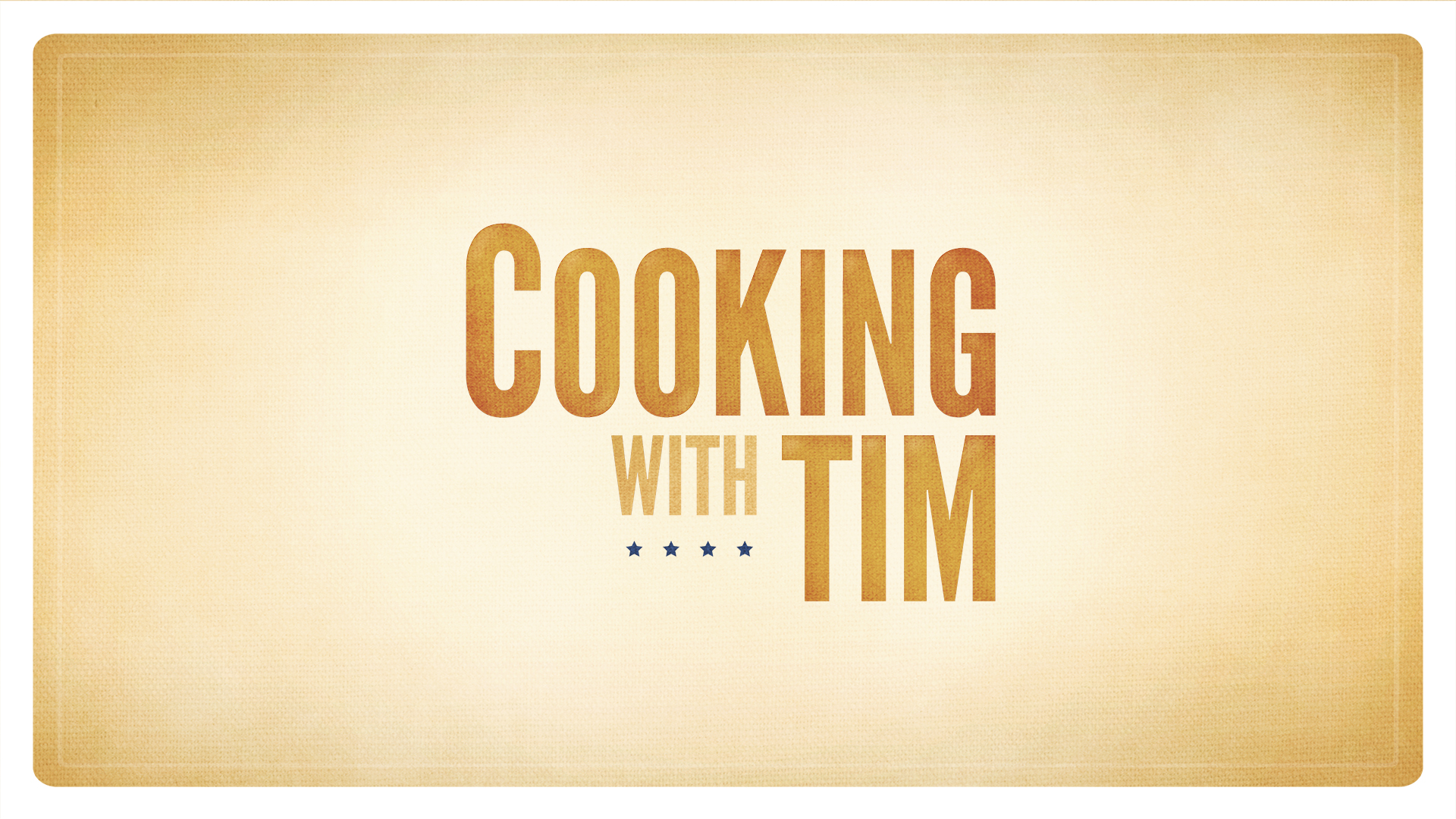 Cooking with Tim // Webseries
