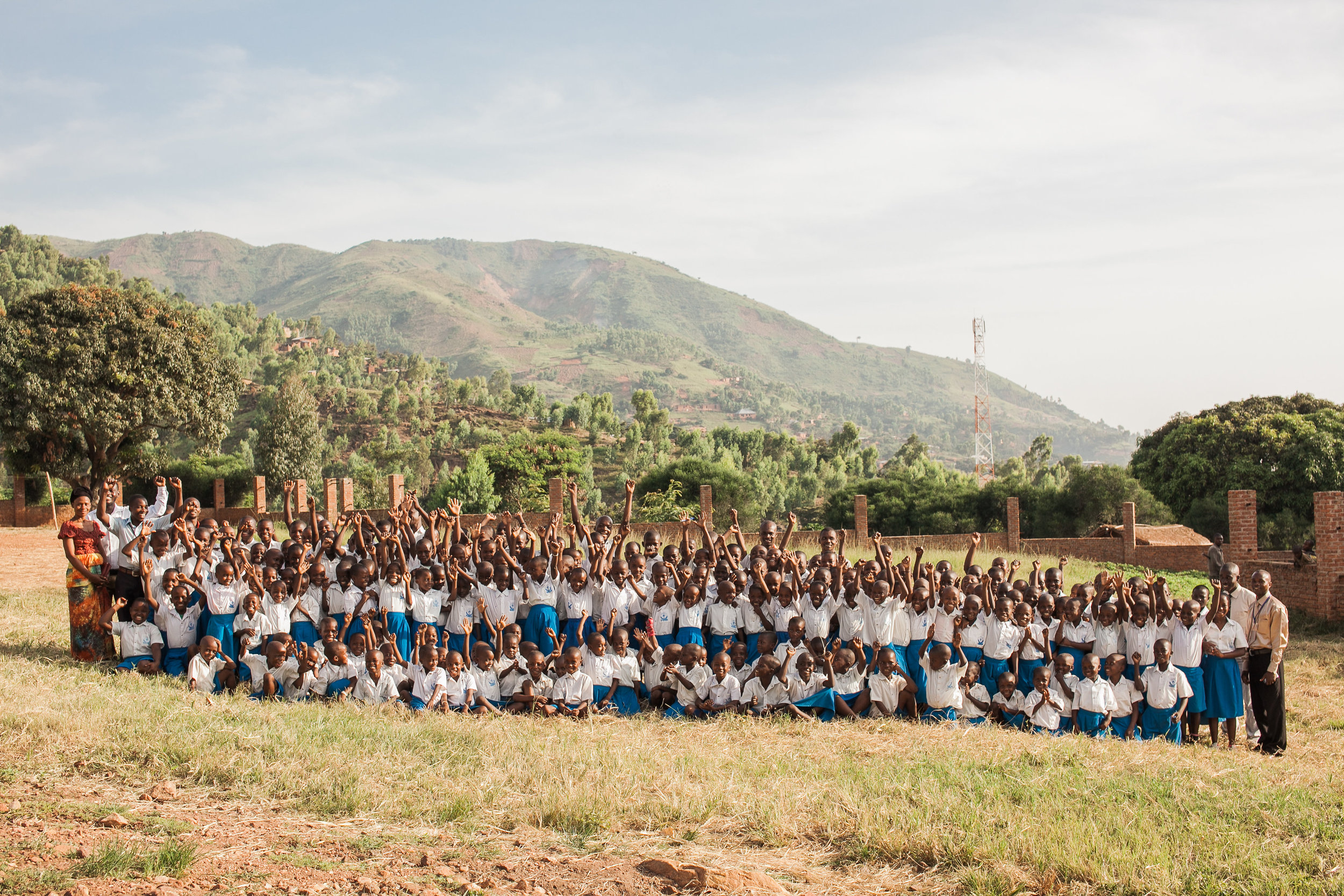 Mango Tree School photo with all students and teachers