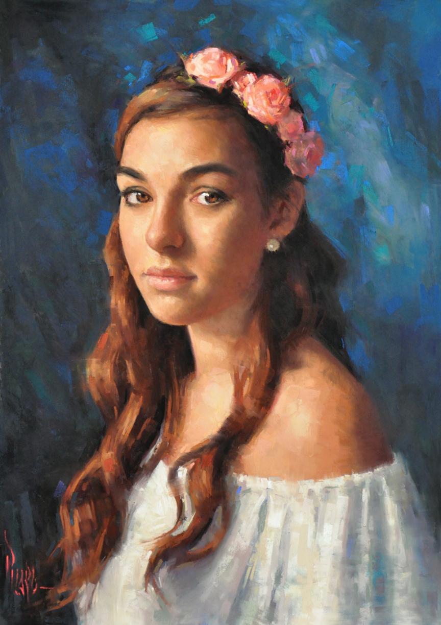 "The Bride 23 x 16"" pastel"