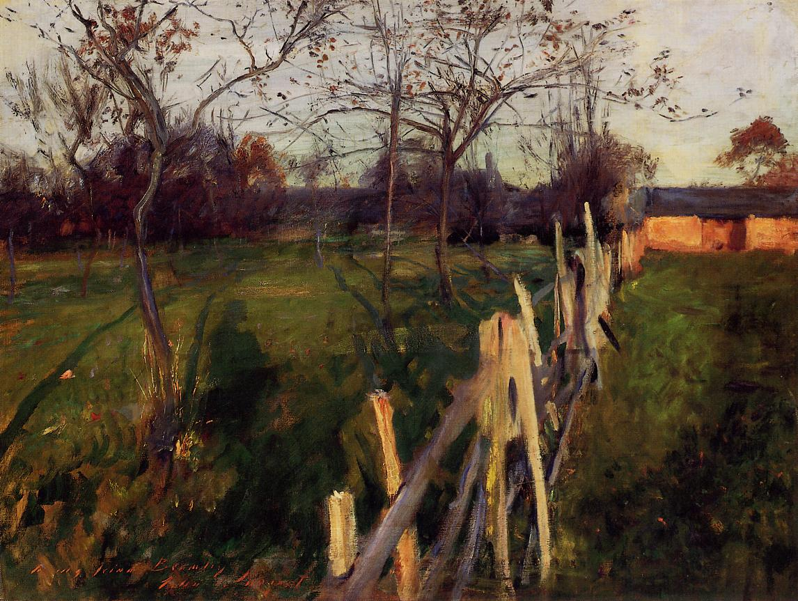 Home Fields  by John Singer Sargent 1885