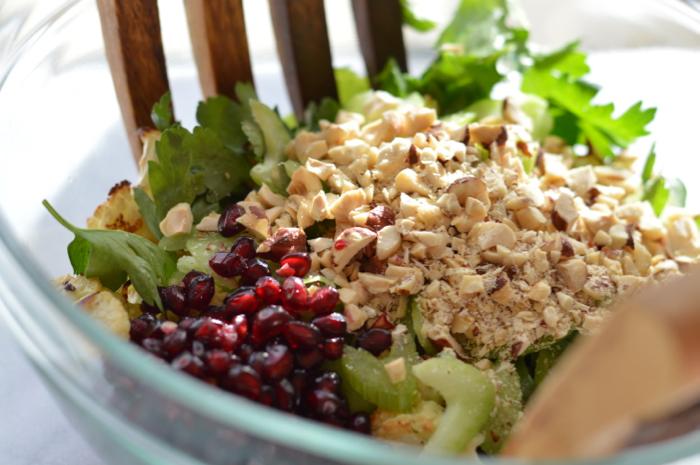 Bowl full of cualiflower ingredients