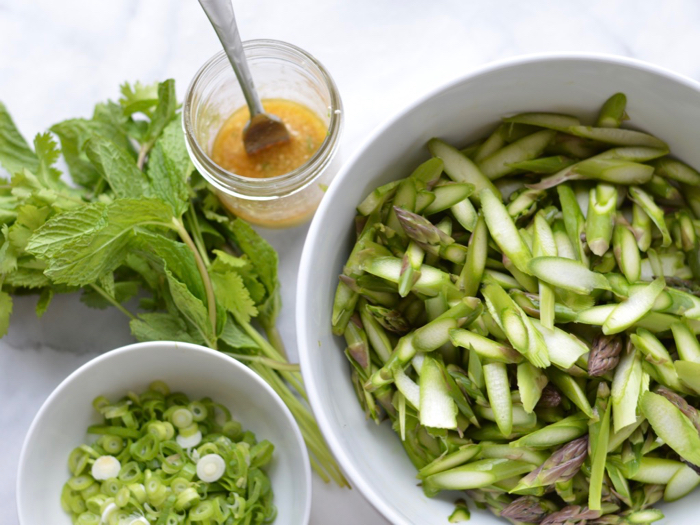 Food as medicine: asparagus salad with ginger and sesame