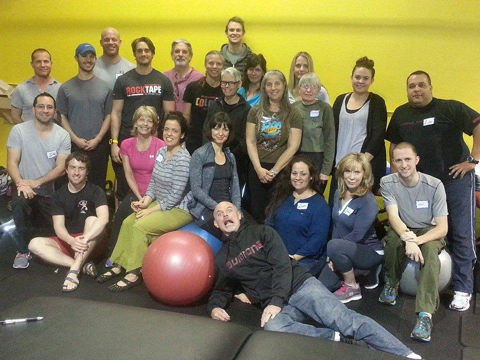 Lois Laynee's Restorative Breathing Class in L.A., December 14-15, posing in front of the most popular color in the class.