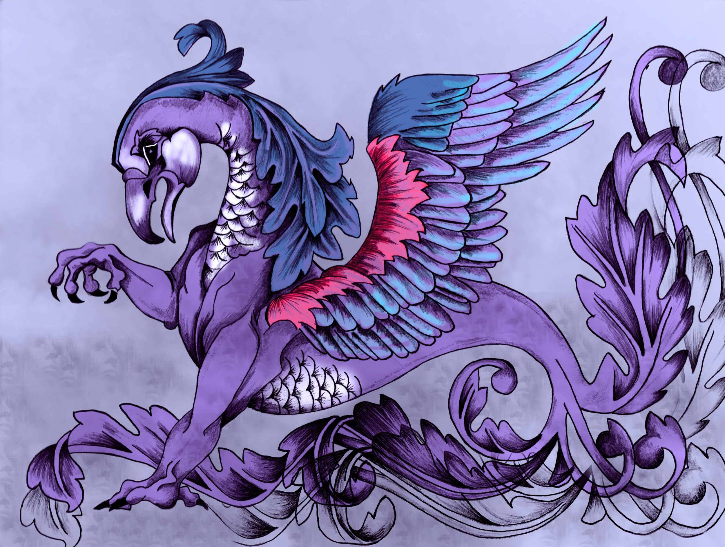 Gryphon in Purple
