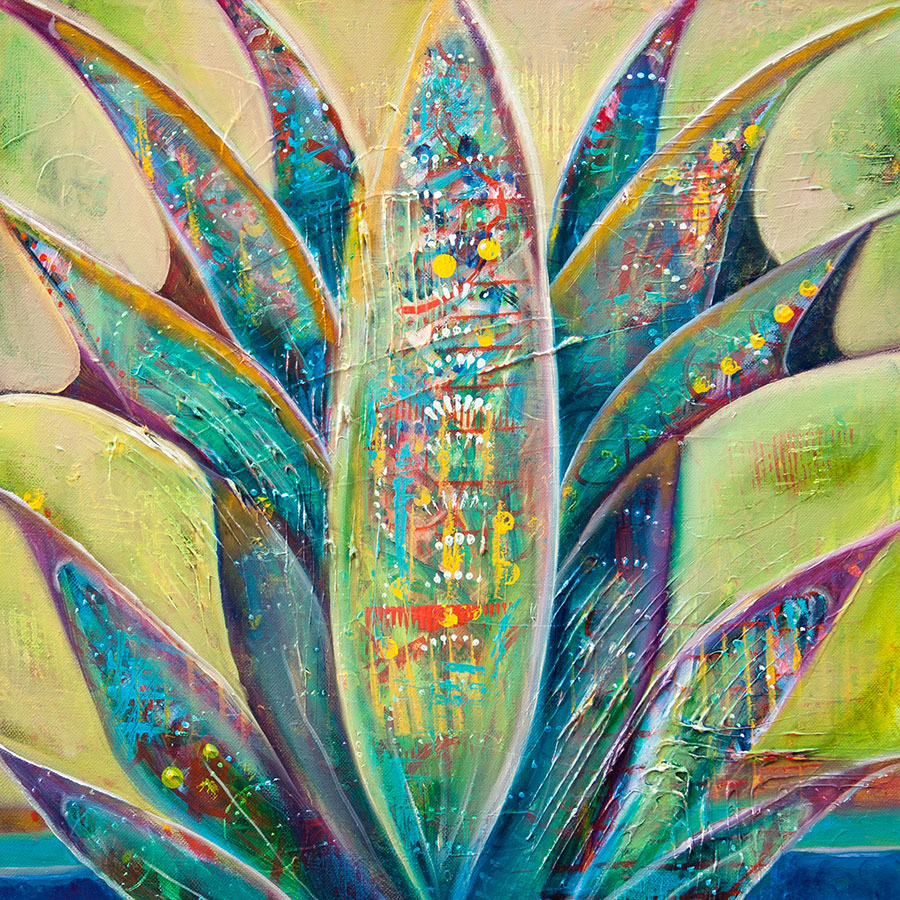 Blue Agave 18x18 Oil on Canvas