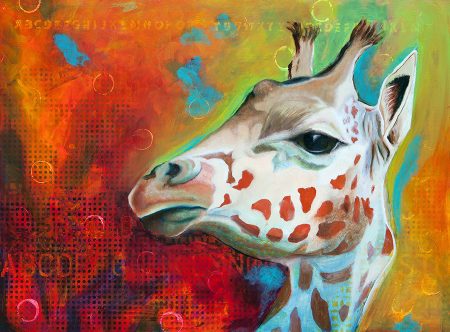 Giraffe 18x24 Oil on Panel (Commissioned Piece - SOLD)