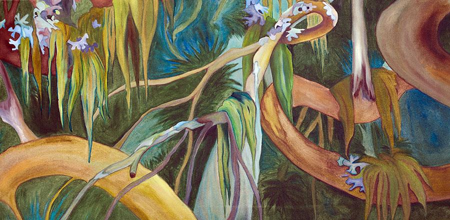 Wonderland Study II 36x18 Oil on Canvas