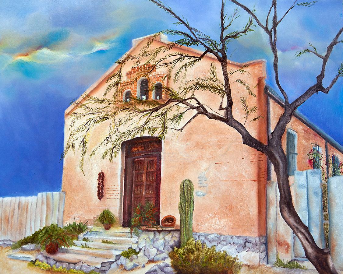 Barrio Viejo, Tucson Arizona 16x20 Oil on Panel (SOLD)
