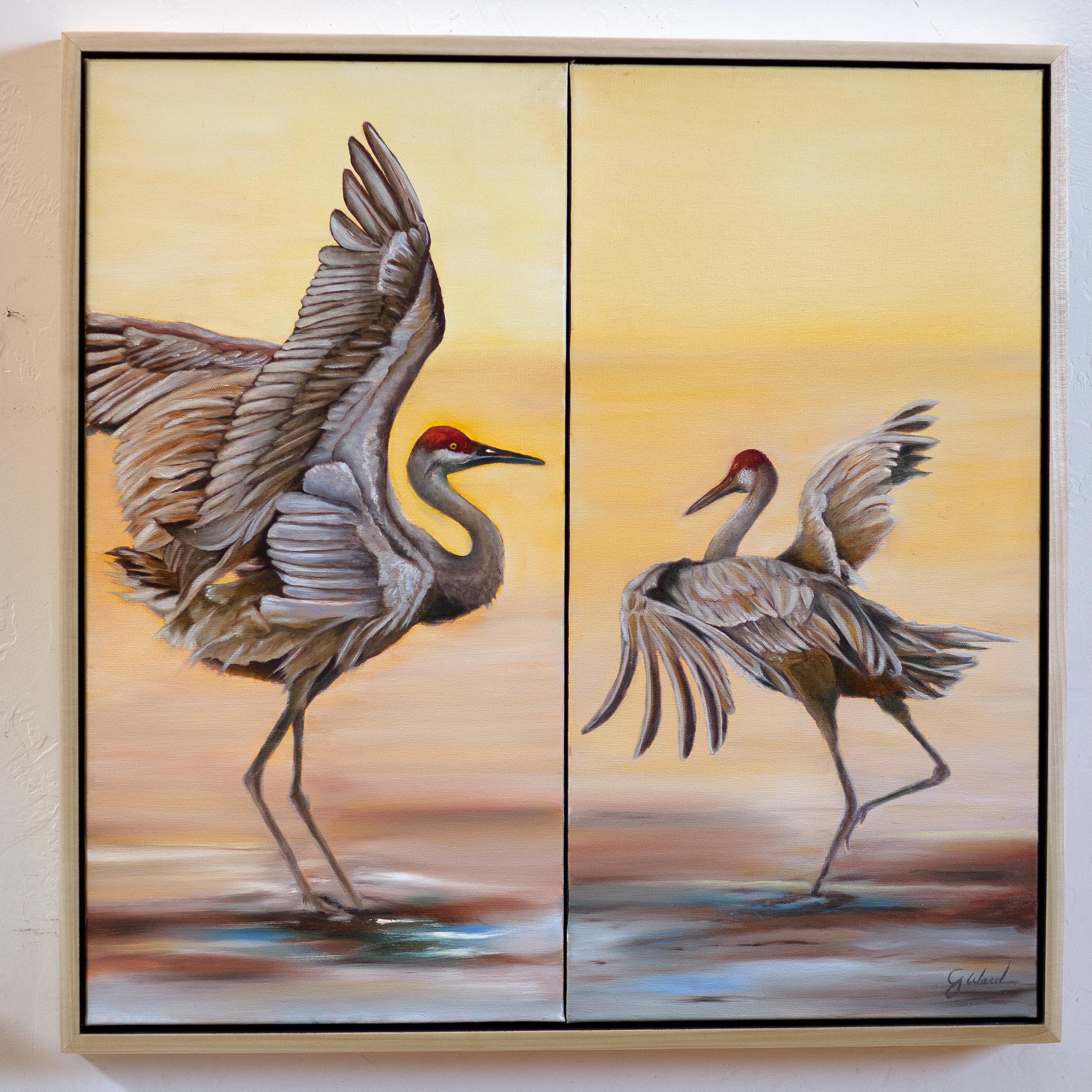 Pas de Deux, 24x24 Oil on Canvas