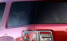 Wrap around rear glass