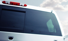 Power sliding rear window