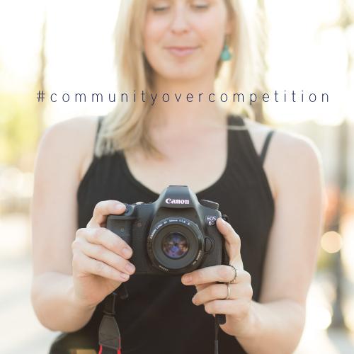 #communityovercompetition