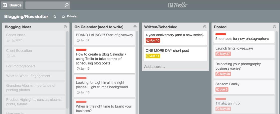 How to create a blog calendar using Trello | Blog Calendar
