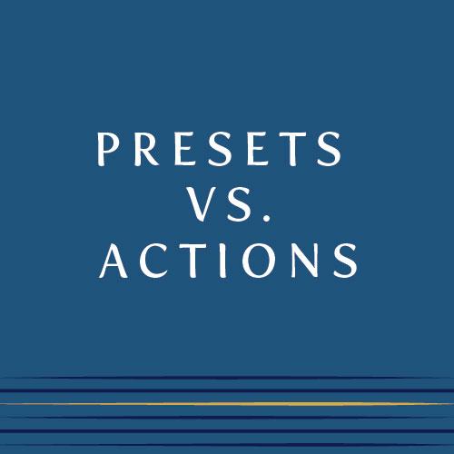 Presets vs. Actions | Cinnamon Wolfe Photography | NJ Wedding Photographer