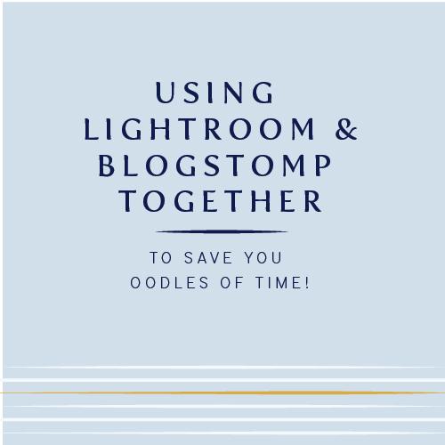 Lightroom plus Blogstomp   How to use Blogstomp