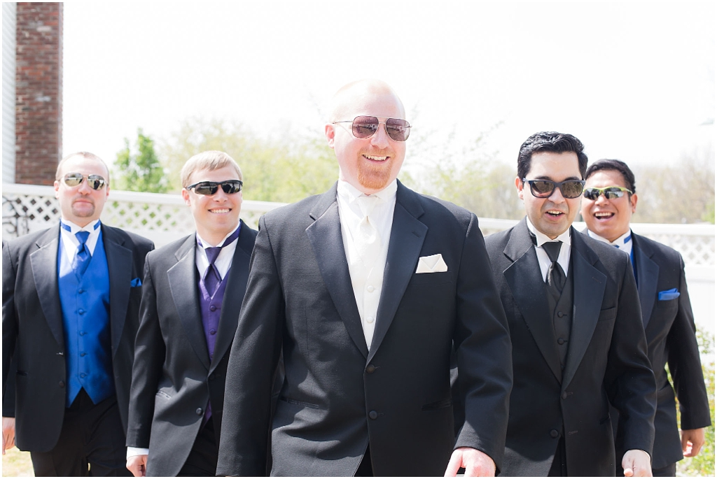 bridal party with sunglasses