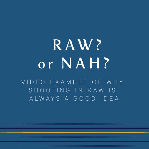 What does it mean to shoot in RAW?