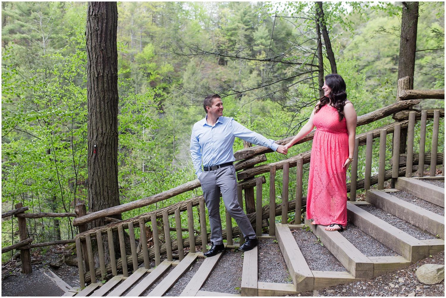 Bushkill Falls Engagement Session