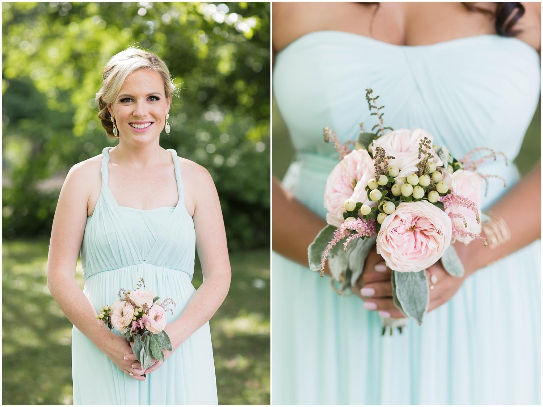 Morris County Wedding | NJ Wedding Photography | Mint bridesmaid dress
