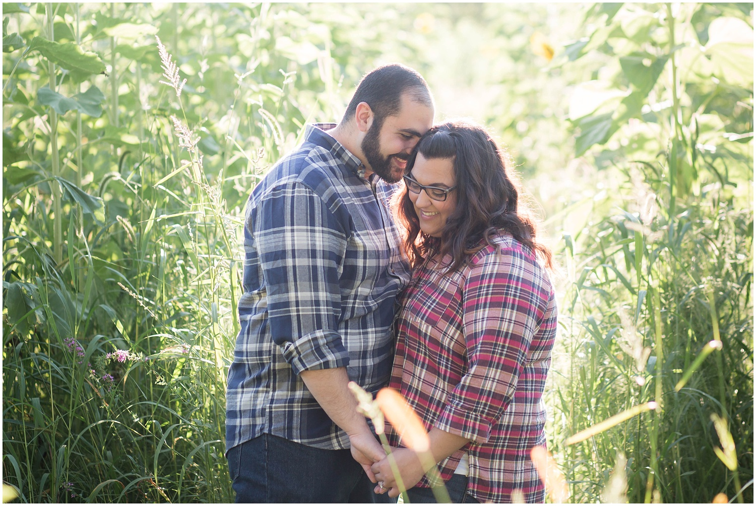 Sussex County Sunflower Maze Engagement Session North New Jersey
