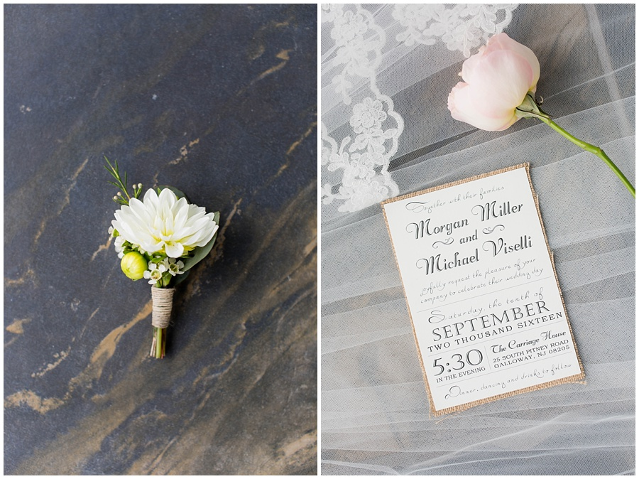 The Carriage House | Wedding | Blush and Navy | Galloway, NJ
